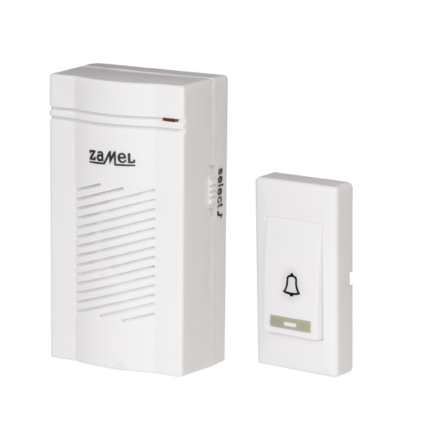 Безжичен звънец CLASSIC на батерии - 3 мелодии, 100м обхват на действие